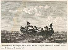 Jean Bart et Forbin s'échappent d'Angleterre en 1689. - En récompense de ses services, Jean Bart reçoit du roi la croix de chevalier de St-Louis. Le 29 juin 1694, il reprend à une flotte hollandaise un convoi d'une 100° de navires chargés de blé que celle-ci venait de capturer, en Russie et en Pologne. Cette fois Louis XIV anoblit Jean Bart qui continue à s'illustrer dans la mer du Nord: le 1° avril 1697, il est nommé chef d'escadre en Flandres et en 1699 commandant de la marine de Dunkerque
