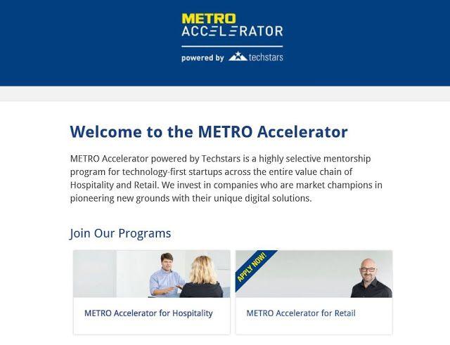 METRO Accelerator  @Berlin   Candidaturas até 12 de março by techstarts