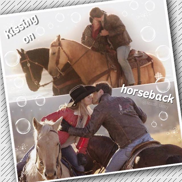Er.... Happy late New Year Heartlanders!! 😂 So I might be re thinking my account... I don't want to get rid of it (we've been through a lot together 😉) But I might start supplementing (word of the day) my edits with other people's- with credit of course! That's my thinking at the moment... #heartland #iloveheartland #heartlandoncbc #tamy #grahamwardle #ambermarshall #horses #horse #love #kiss #canada #cbc #cowgirl