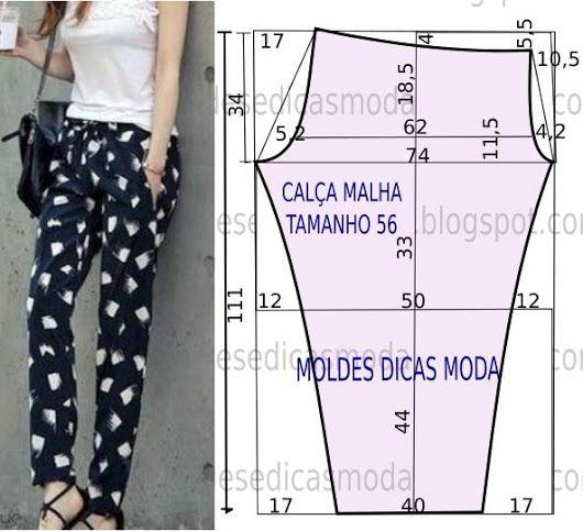 MOLDE DE CALÇA FEMININA 26 - Moldes Moda por Medida