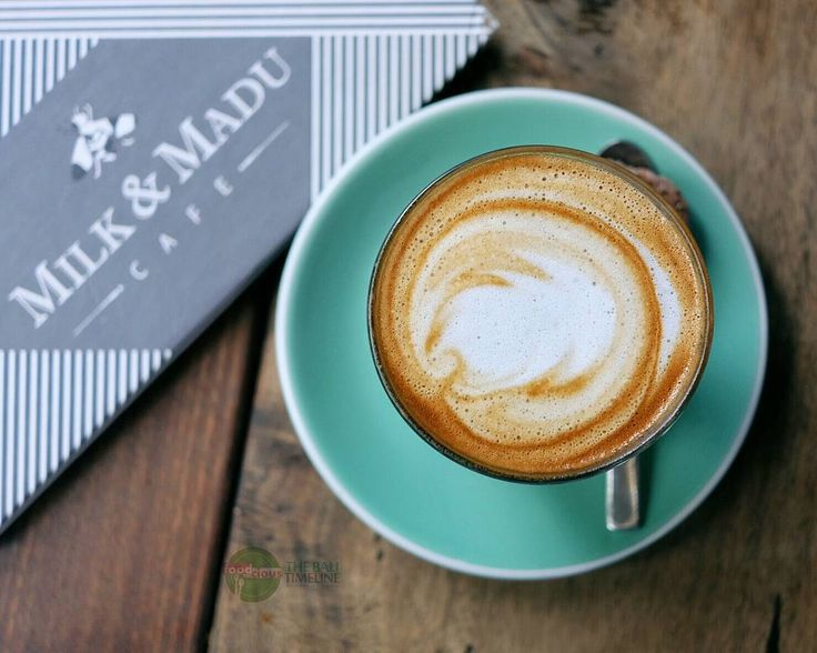Lighten up my morning with Latte with Almond Milk at @MilkAndMadu #canggu