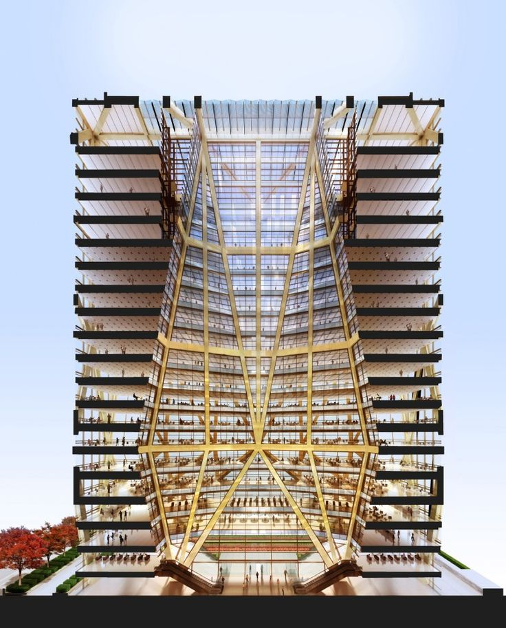 Foster + Partners' CITIC Bank Headquarters Tower Breaks Ground. A boring section, but someone sure spent a lot of time making it look pretty.