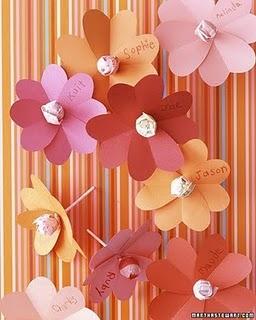 kids flower valentines via martha stewart