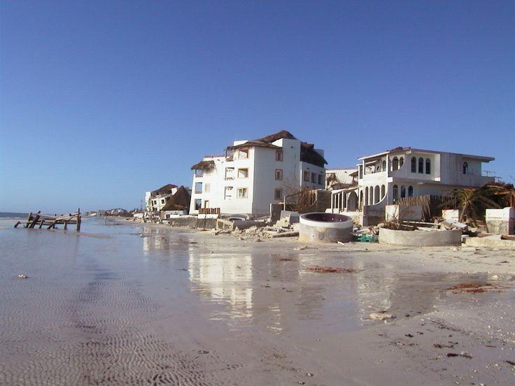 Playa Ceiba del Mar - Hurricane Wilma Aug 2005 Puerto Morelos Yucatan Photos - Wilma made several landfalls, with the most destructive effects felt in the Yucatán Peninsula of Mexico,