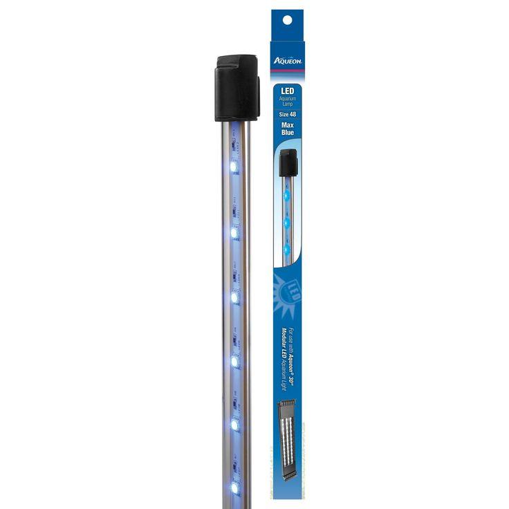 Aqueon Max Blue Modular LED Aquarium Lamp Frustration-Free Packaging Size 48