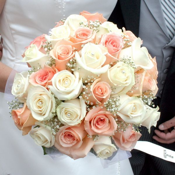 Bridal Peaches and Cream Bouquet