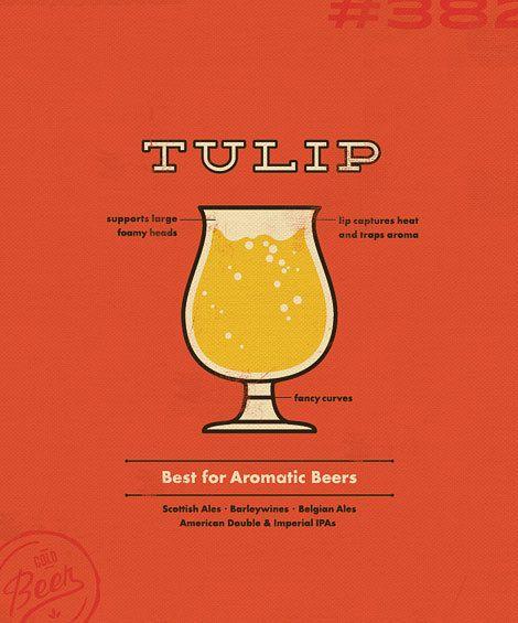 Sauced Tulip Glass Poster — Designspiration