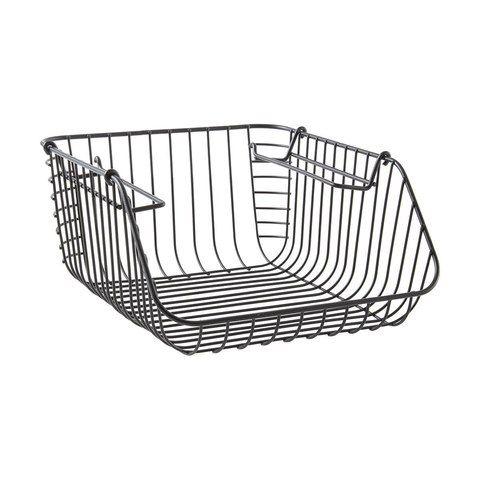 Stackable Basket - Small, Matte Black