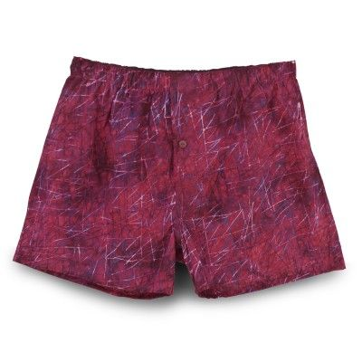 Mens Boxer Short Size M Maroon Batik LIKE us https://www.facebook.com/aquazybeachwear