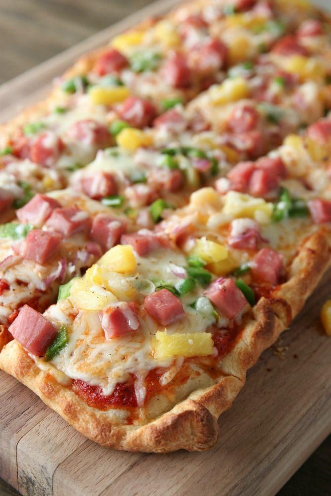 Leftover Ham Hawaiian Pizza