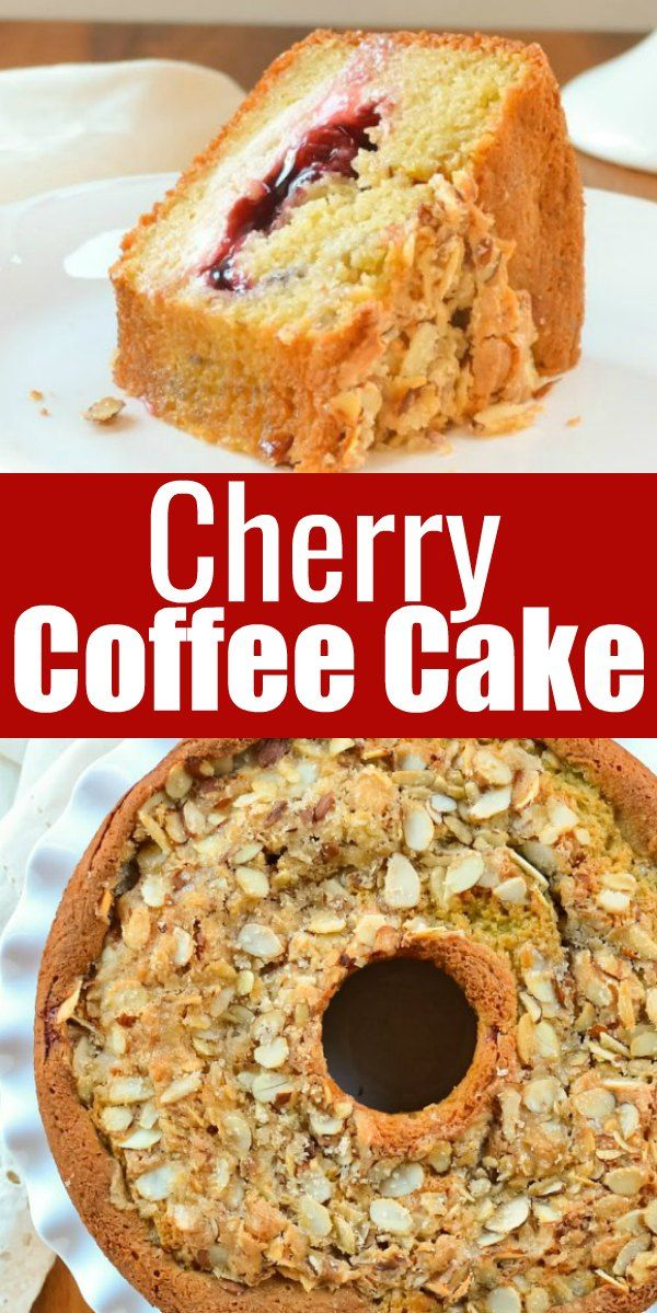 Cherry Coffee Cake with Cream Cheese Filling Recipe