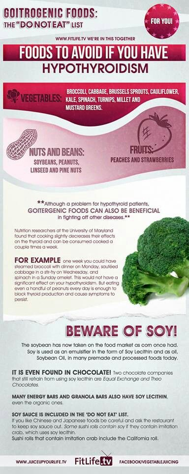 Hypothyroidism ... Some foods we think are good for us but not if you have hypothyroidism