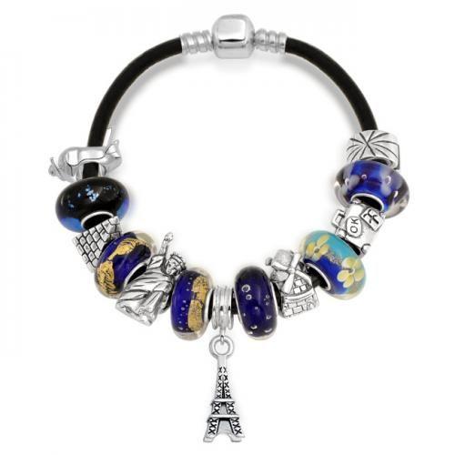 World Traveler Dangle Charm Tourist Bracelet Pandora Compatible Beads