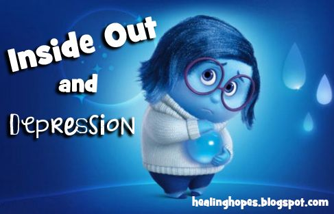 Healing Hope blog post: Emotions Inside Out and Depression #InsideOut #Saddness #depression