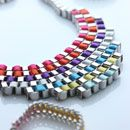 Color is the new IT - 524N OXXO design neckless.