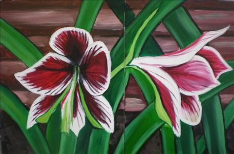Wild iris set sarasota fl painting class painting for Painting with a twist charlotte nc