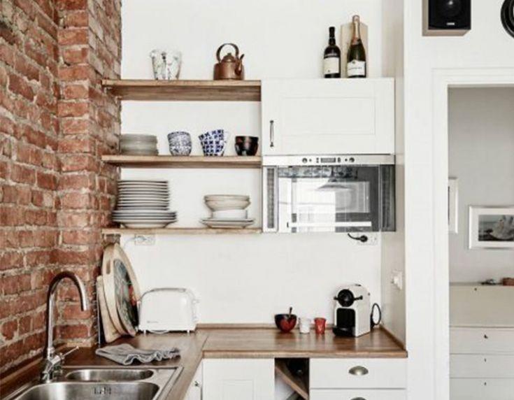 Houten Keuken Planken: Eiken keuken plank opbergplank uniek massief ...