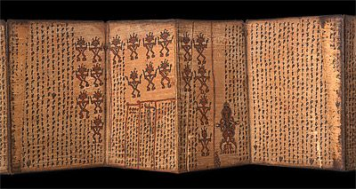 This is a Magic Bark Book— also known as a Pustaha— from the 1930s, Toba Batak, North Sumatra, Indonesia. The Pustaha is usually made from p...