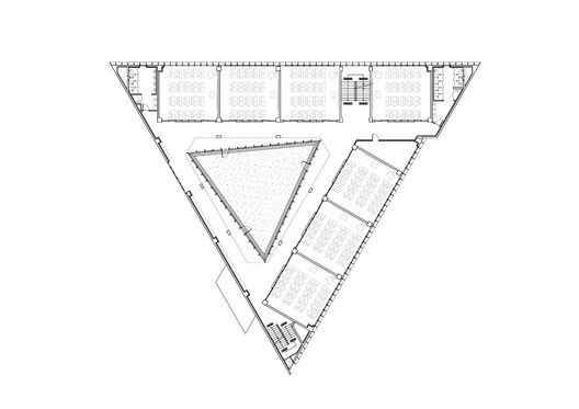 DH Triangle School,Second Floor Plan