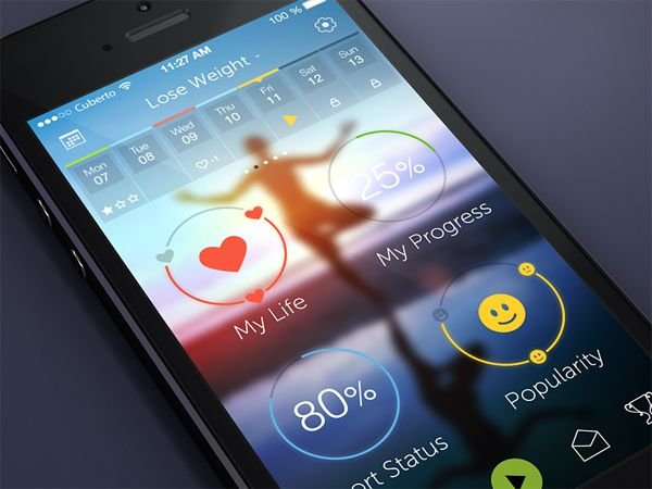 An example of a gaussian blur background image for design idea