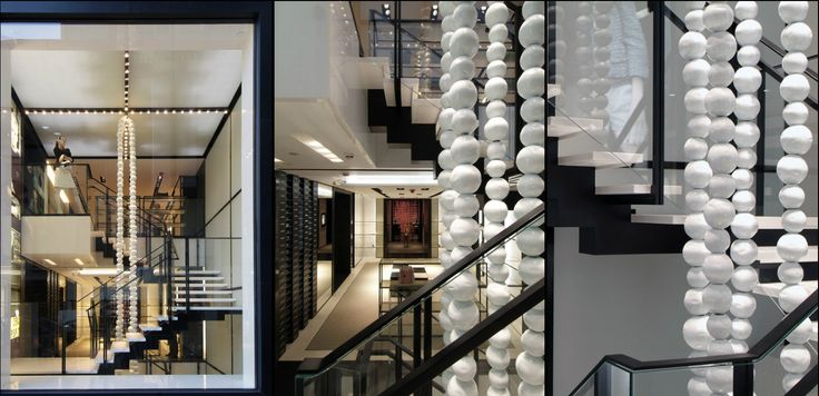 Best Peter Marino Chanel Store Stair With Glass Guardrail 400 x 300