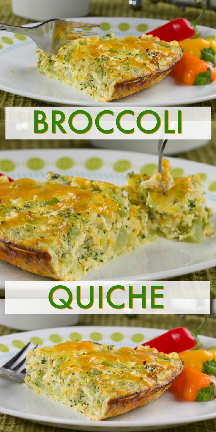 We love that this recipe is totally crustless, 'cause that means we can enjoy more of this Broccoli Quiche without stressing about going over carb goals!