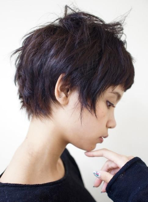 THIS IS MY MOST PINNED PIN! CRAZY SO MANY LOVE SUCH A SHORT HAIR CUT. INSPIRING!!! if I ever get nerve enough to wear short hair?, this is so adorable!!!!!!