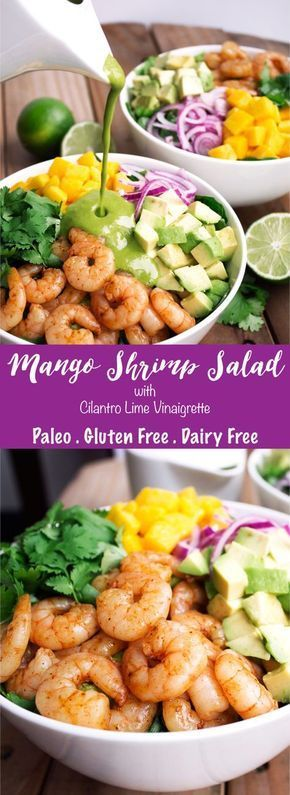 Mango Shrimp Salad | Kit's Coastal | #kitscoastal #coastalpaleo #paleo…