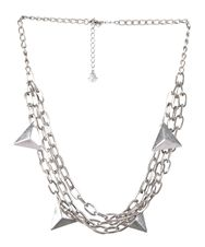TRIANGLES AND CHAINS NECKLACE