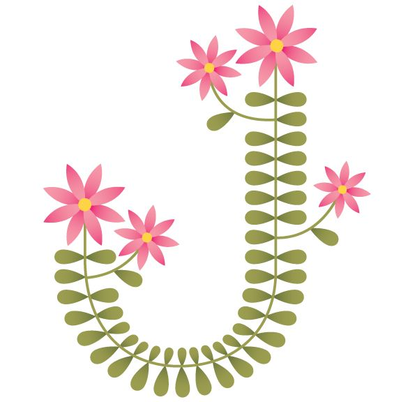 sweet J: Printable Letters, Alphabet Fleur, Folk Art, Dropcap, Initials, Letters J, Daughters, Alphabet Drawings J, Flowers