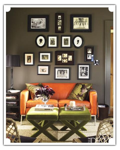 Love the dark, moody walls and color scheme