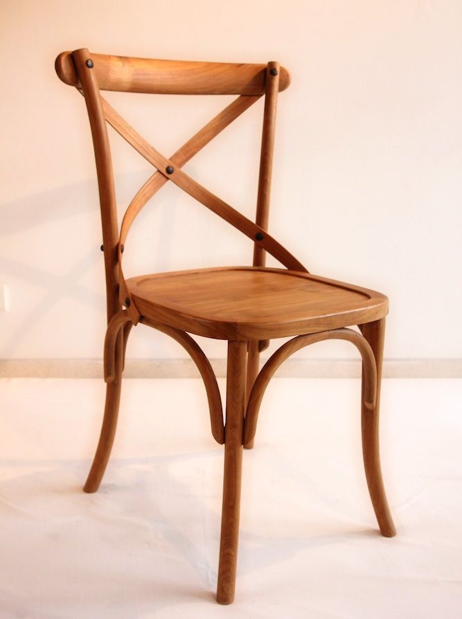 Thonnet Chair - Natural. Thonnet Chair is made from solid jati wood recycled with finishing Natural, Sanded + Wax. The size is 45cm x 40cm x height 88cm