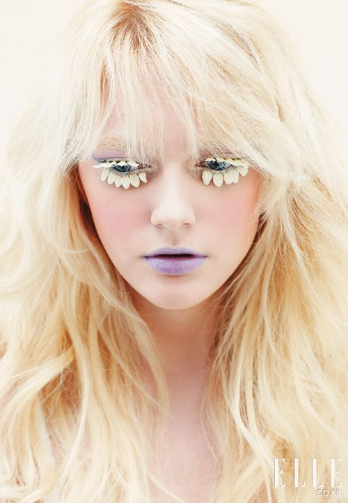 The Best High Fashion Makeup. Check out that lash inspiration.