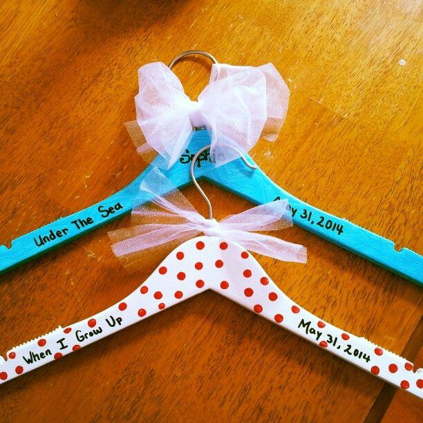 keepsake hangers for dance recital.