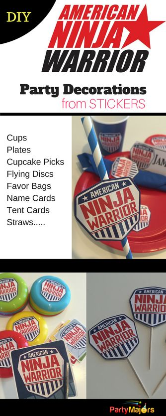 American Ninja Warrior party ideas, decorations, tableware, favors, games, and more