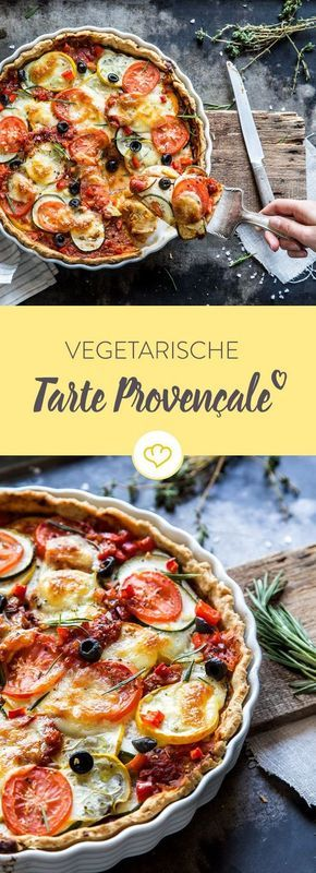Eine laue Sommernacht, ein Schlückchen Wein - und diese leckere Tarte Provençale. Schon der Teig überzeugt mit Kräutern und getrockneten Tomaten.