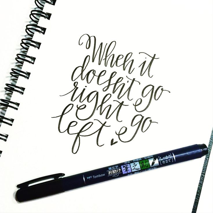 If you are left handed and love lettering check out this post by Lauren Fitzmaurice! She came up with an easy & awesome technique called Tombow like a Lefty