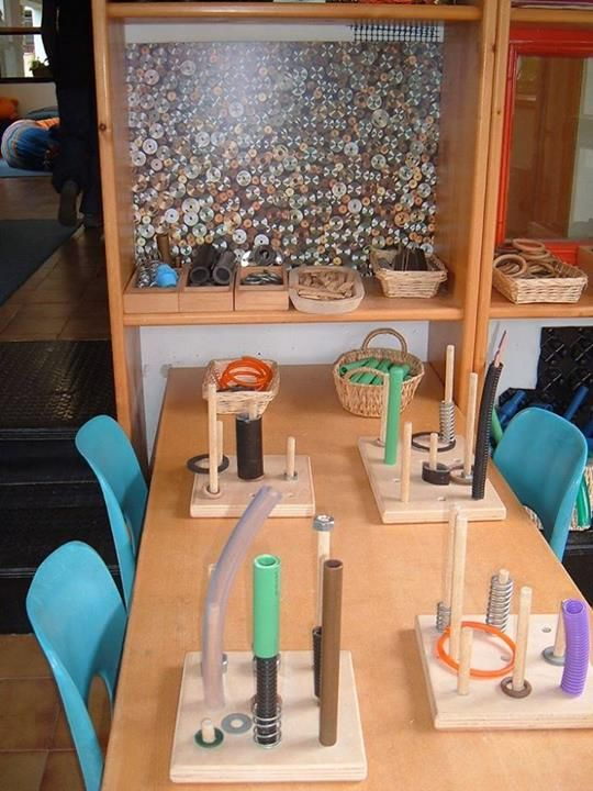 Loose parts at Choices Family Daycare - possibly inspired by a visit to the municipal early childhood education programs in Pistoia, Italy