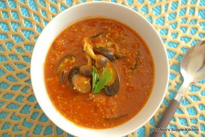 ナスとひき肉のトマトスープカレー