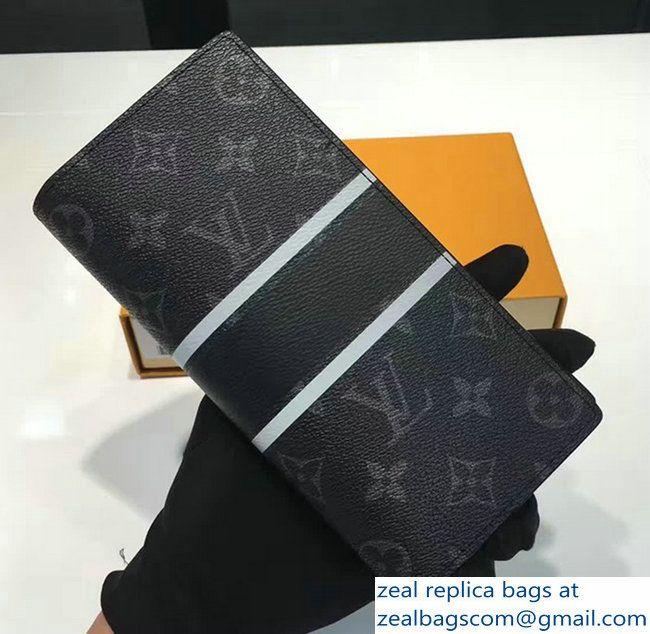 Louis Vuitton Brazza Wallet Monogram Eclipse Coated Canvas M64438 2017
