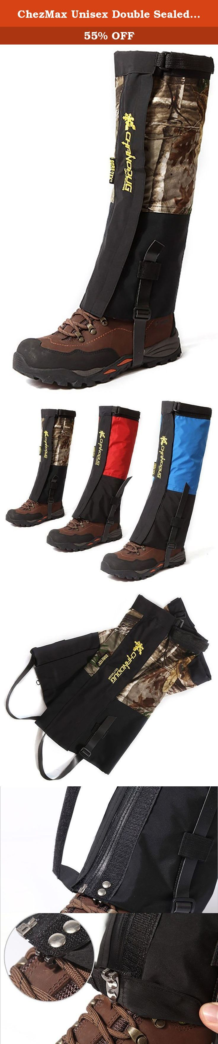 ChezMax Unisex Double Sealed Velcro Zippered Closure TPU Strap Waterproof Leg Gaiters Leggings Wrap for Skiing Snowboarding Hiking Climbing Camouflage. To see more similar products, please click the brand name ChezMax Outdoor or browse in our store ERainbow . The double sealed velcro zippered closure TPU strap ChezMax leg gaiters leggings cover is perfect for outdoor activities like snowboarding, climbing, hiking and skiing. The 400D Nylon Cloth leg gaiters leggings cover is windproof and...