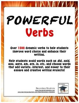 Words to help with creative writing