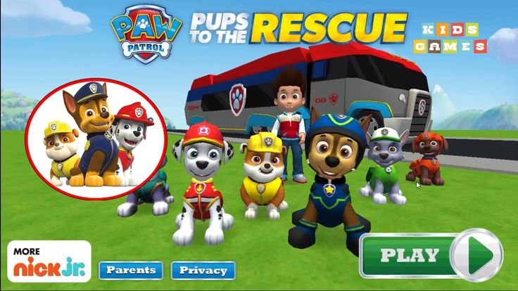 Nickelodeon Games to play online 2017 ♫Paw Patrol Pups to the Rescue ♫ K...