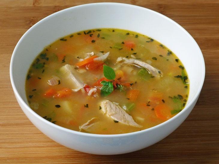Chicken Soup with Mint & Lemon by cookingweekends #Soup #Chicken #Mint #Lemon