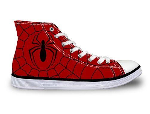 Spiderman Unisex Printed Canvas Shoes (U.S Size)