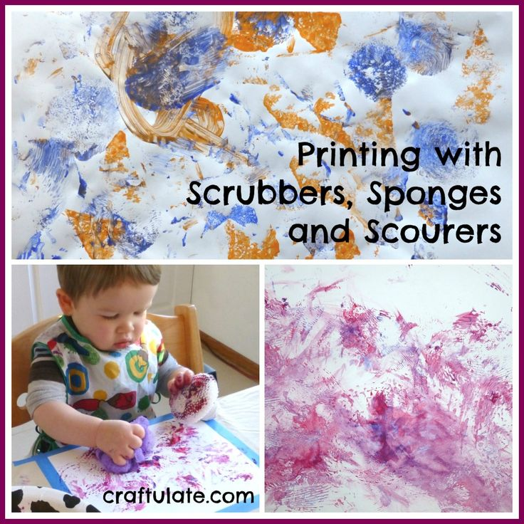Printing with Scrubbers, Sponges and Scourers