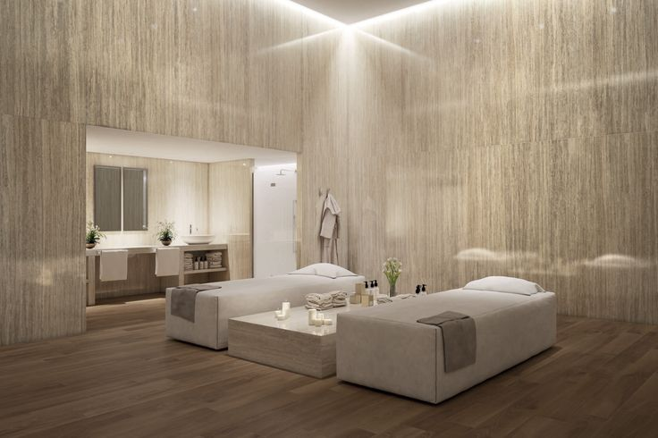Relaxing Spa and wellness design elegantly enriched with Tale series - Project Evolution. #outdoor #colour #design #tile #design #lanscapearchitecture #ceramicheacaesar #caesarceramics #project #evolution #home #indoor #hospitality #office #shop #boutique #cladding #floor #wall