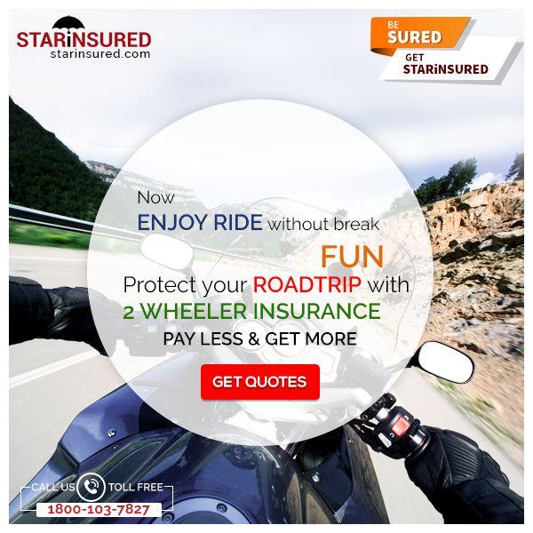 Two Wheeler Insurance by STARiNSURED! Buy Online #TwoWheelerInsurance Policy