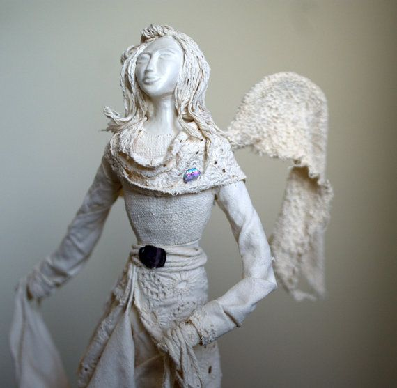 Caitlyn- angel sculpture, original handmade gift, home decor, mother's day