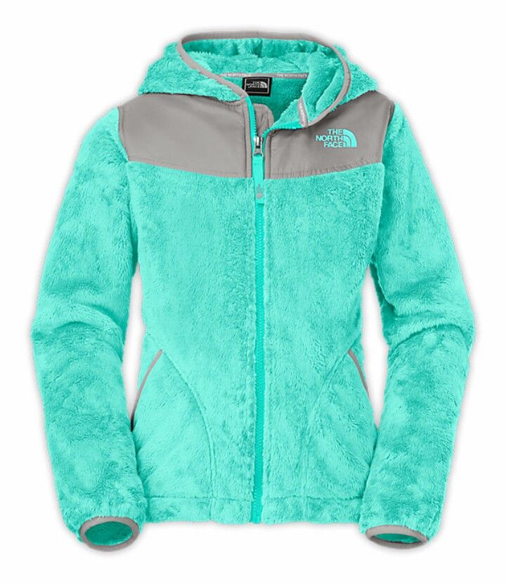 Teal north face jacket. So cute